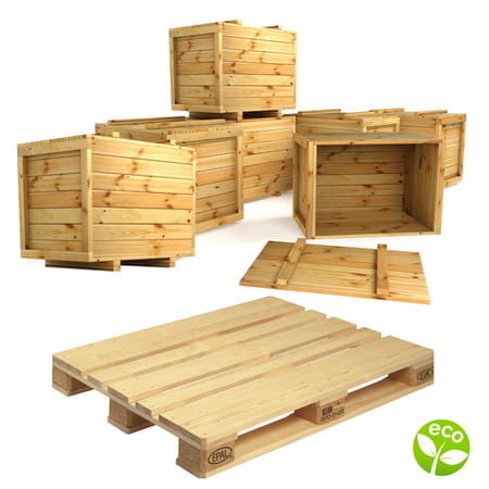 Wood pallets boxes and cages