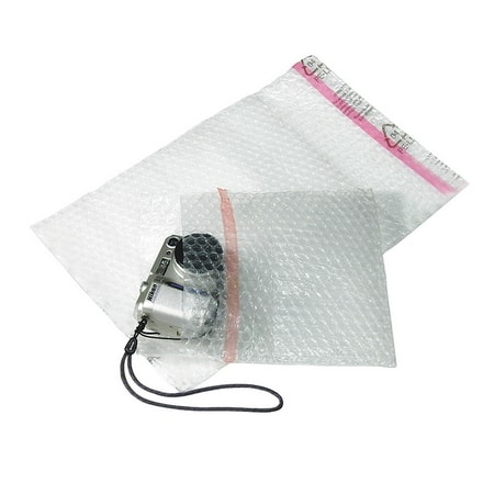 Bubble wrap envelope and leaves