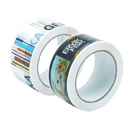 Branded adhesive tapes